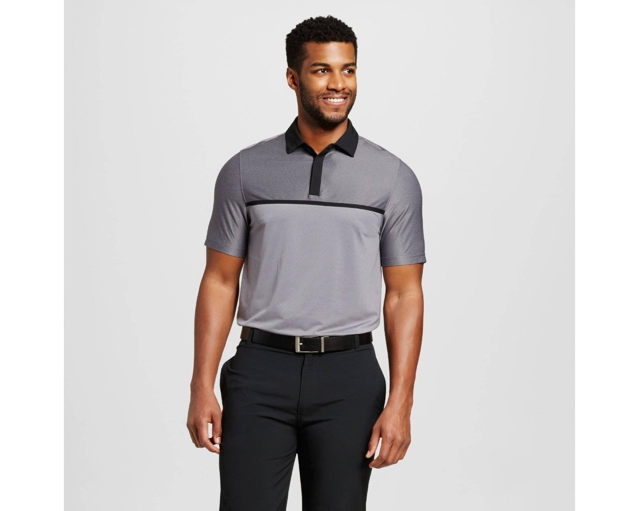 a28af2b02 C9 Champion Men s Speed Knit Golf Polo Shirt - Concrete Gray - Size Small