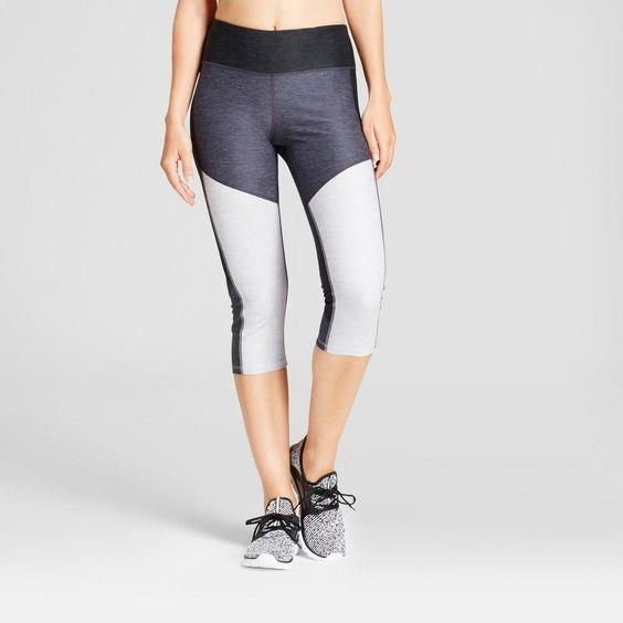 91426486d5b7 C9 Champion Women s Freedom Heather Colorblocked Leggings - Dark Gray - XXL
