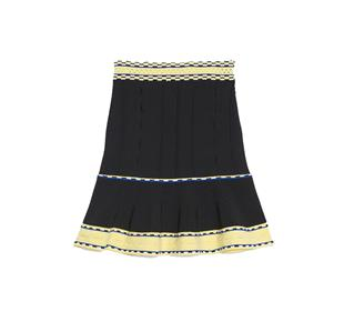51e8f3802b76a4 This Sandro Nestor Knit Sleeveless Top   Flared Skirt Set features contrast  stitch bands that work as trims and decorative elements.