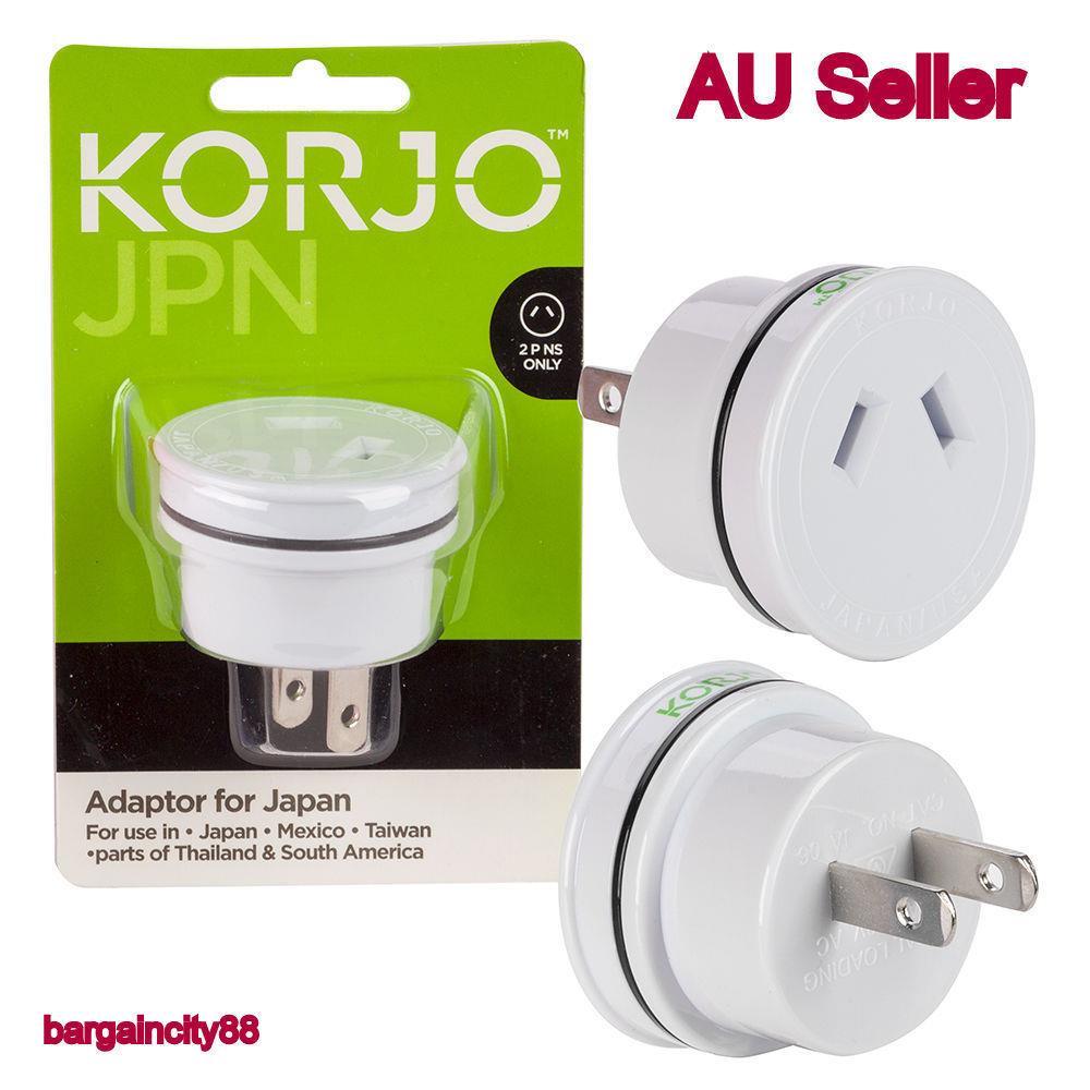 Korjo Travel Adaptor For Japan From Australia New Zealand