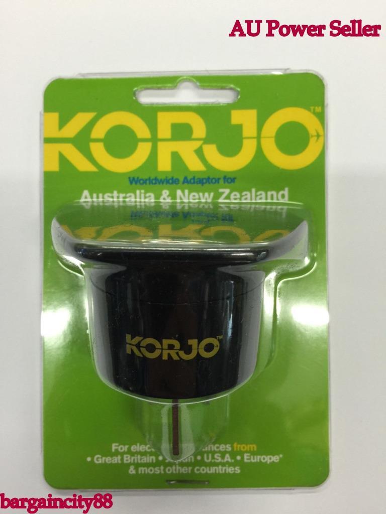 Korjo Travel Plug Adapter Adaptor For Australia From Uk Us