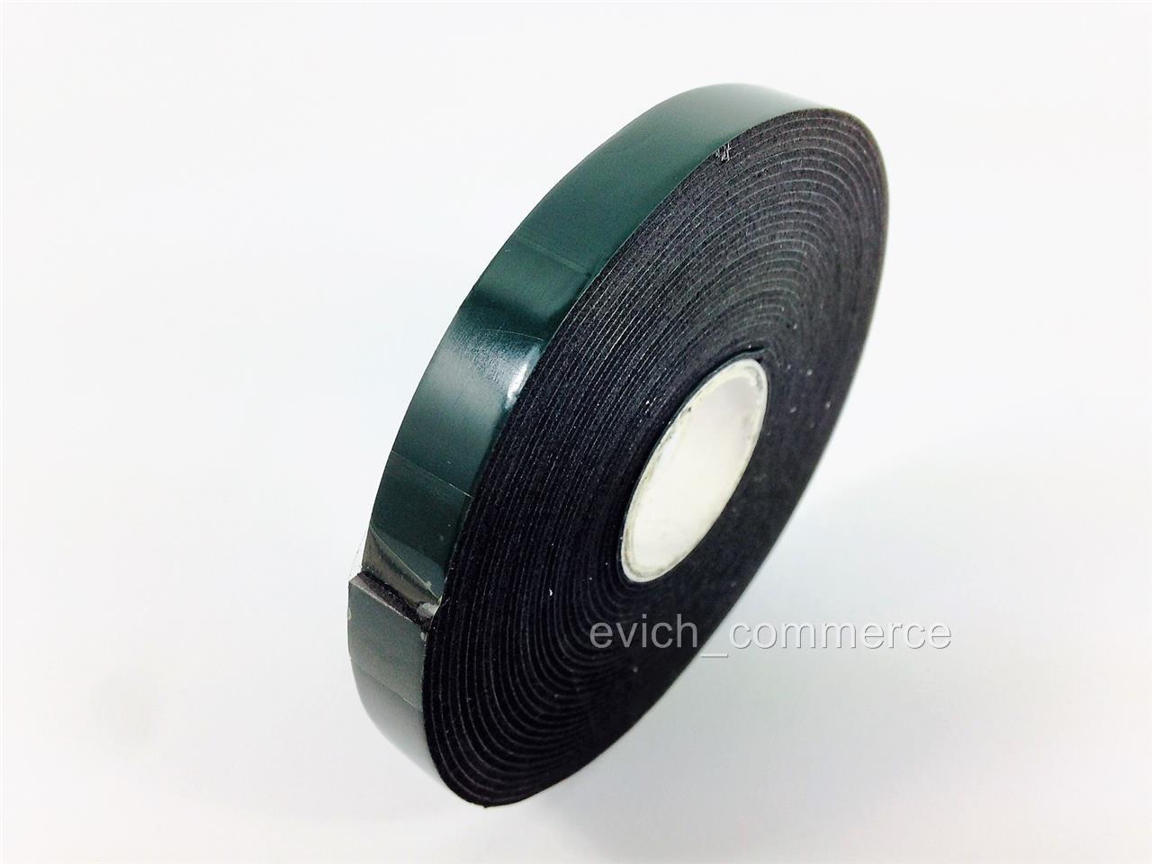 10mm doppelseitiges klebeband schaum tape montageklebeband rolle 5m schwarz ebay. Black Bedroom Furniture Sets. Home Design Ideas