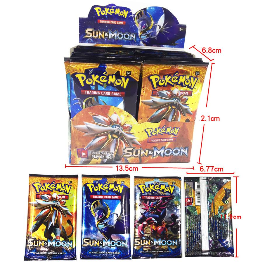 324 PCs 36 Packs Lot SM SUN & MOON Pokemon Trading Cards