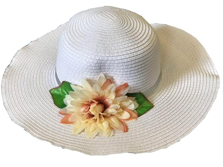 50pcs Ladies Summer Beach Hat Wide Brim Straw Hat Holidays Wholesale Job lot