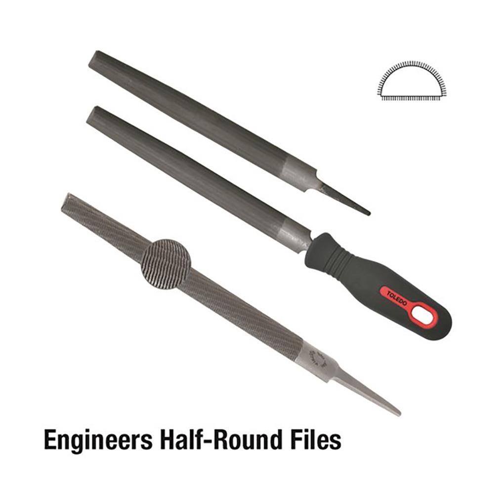 12 Round File with Handle DIY Packaged Bastard Cut