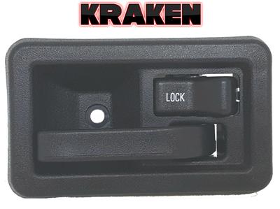 Kraken Inside Door Latch Handle For Jeep Wrangler 87-04 W// Rod Clip Right YJ TJ