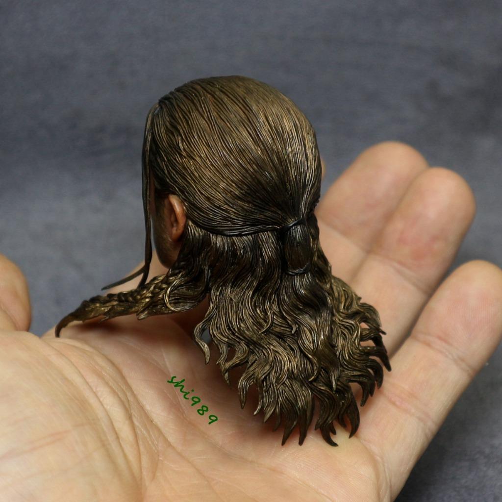 """1//6 man head sculpt soldier dreadlocks 12/"""" figure hot toys phicen ganghood ❶USA❶"""