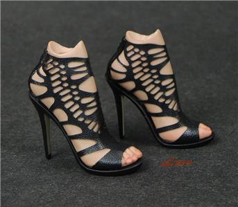 1//6 Pepper Potts Female Solider High-heels Shoes Model W//Feet Fit HT//PH JO Body