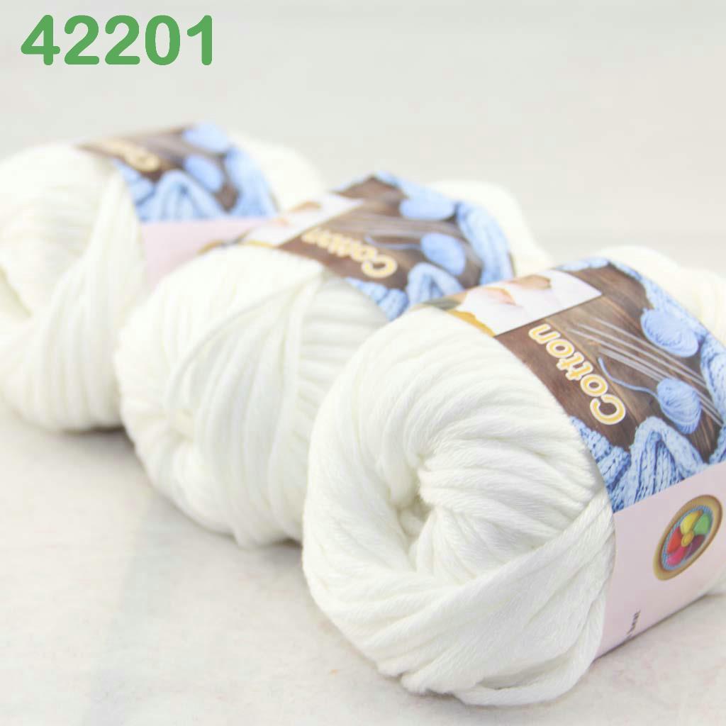 Sale New Yarn Soft Worsted Cotton Chunky Shawl Scarf Hand Knitting 6x50gr 244