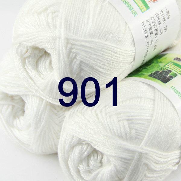 Sale 1 SkeinX50g SUPER Soft Baby Natural Smooth Bamboo Cotton Knitting Yarn 937