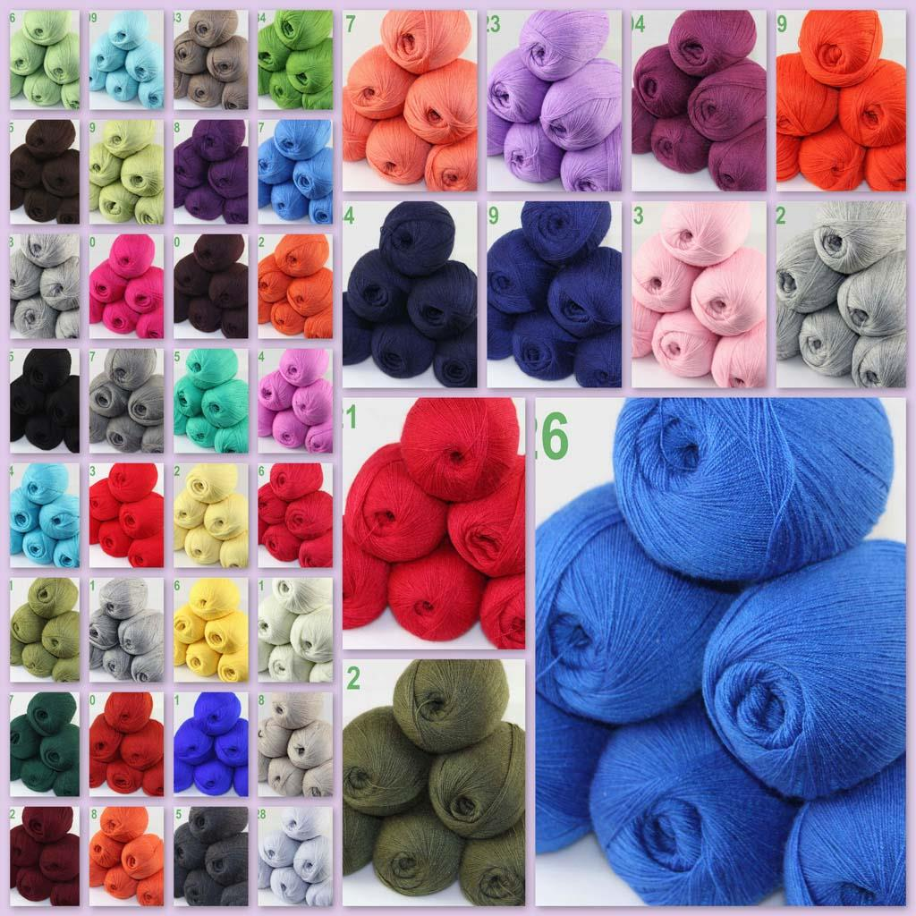 Fashion 8ballsX50g Sable Cashmere Scarf Shawl Hand Knitting Wool Yarn Purple Red