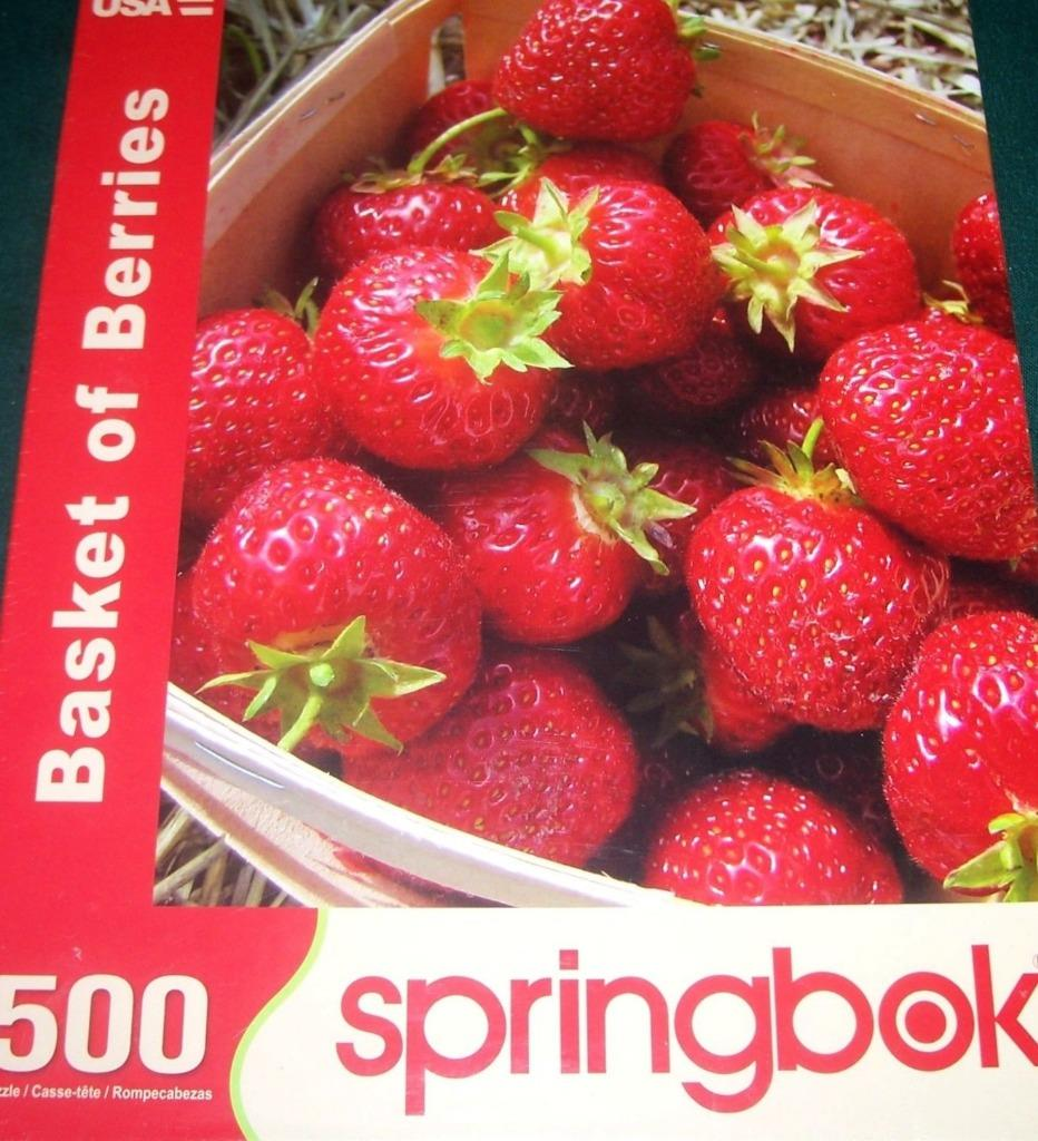 Details about Springbok Puzzles - Basket of Berries - 500 Piece Jigsaw  Puzzle - NEW & SEALED