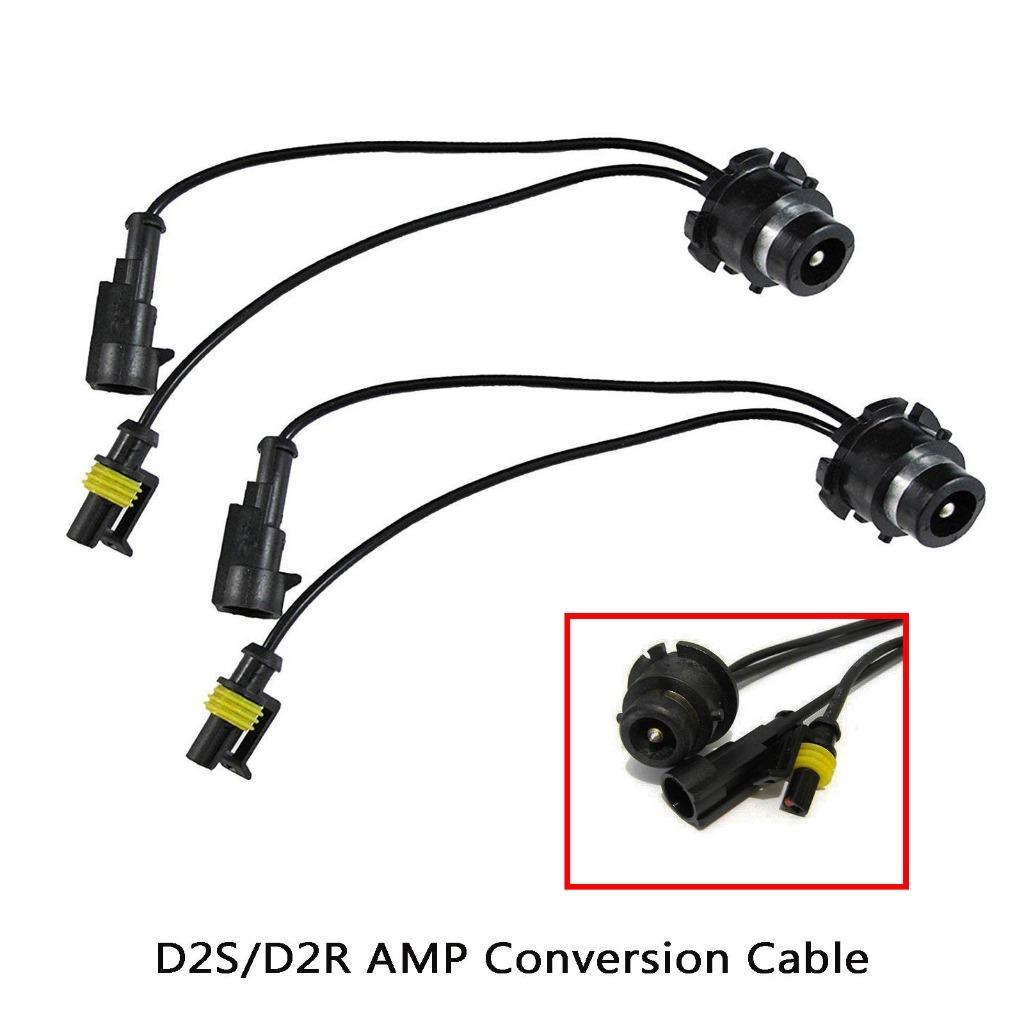 O-NEX 2x HID Relay Harness D1S D1R D1C 35W//55W AMP Wiring Adapter Bulb//Ballast Connector