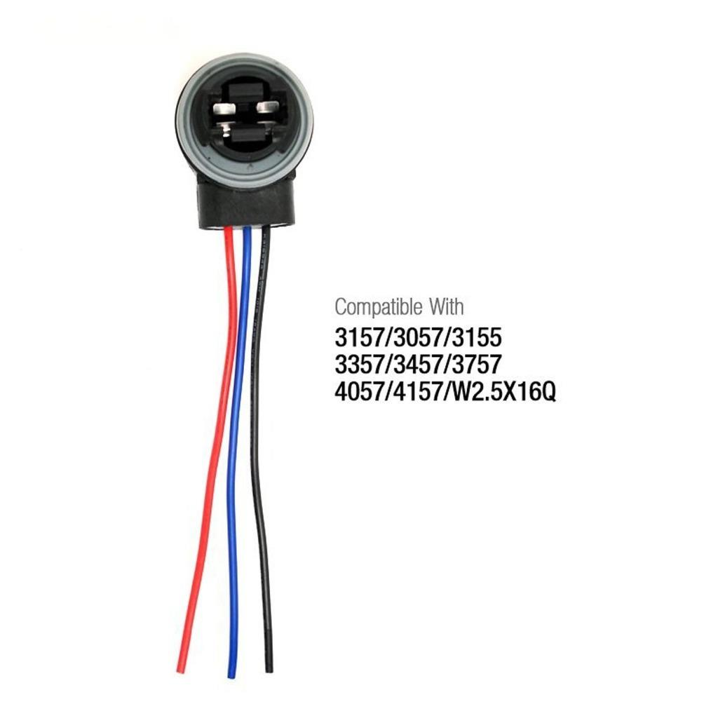 3157 4157 Wiring Harness Connector Socket For Brake Turn