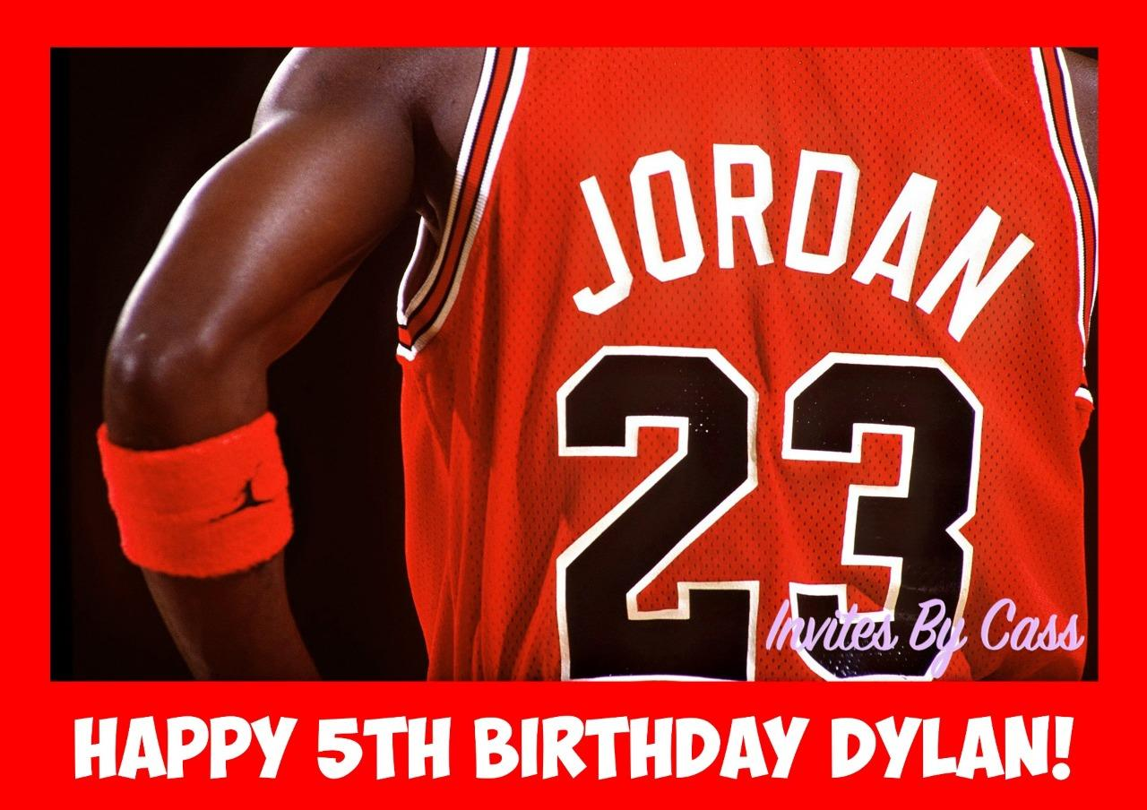 Excellent Michael Jordan Air Jordan A4 Edible Image Cake Topper Birthday Funny Birthday Cards Online Elaedamsfinfo