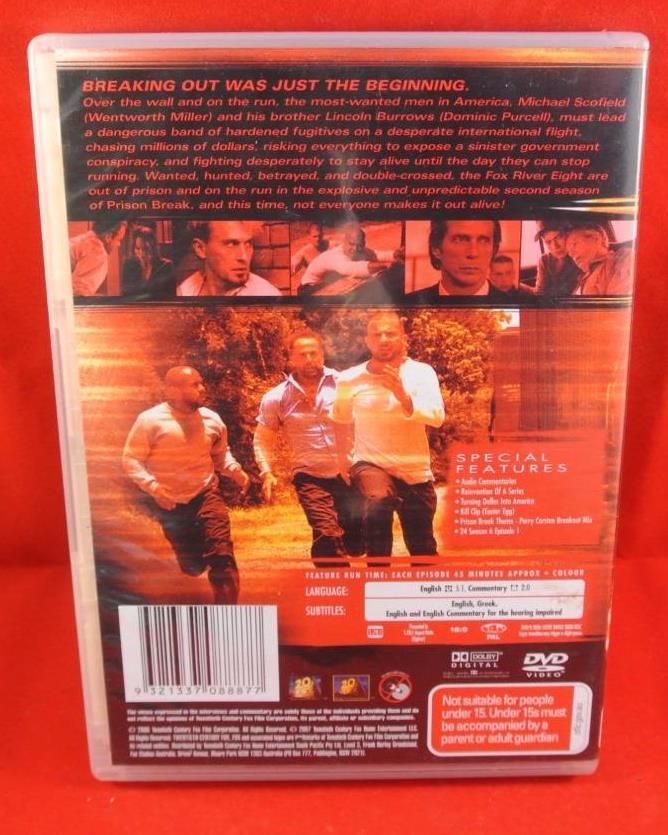 Details about Prison Break Season 2 (please note disc 1 is missing) 5 Disc  Total DVD R4