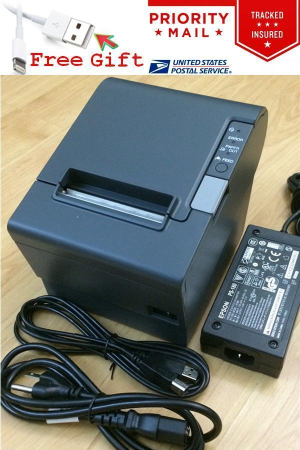 Details about Epson TM-T88IV M129H POS Thermal Receipt Printer USB Port w/  PS-180 Power Supply