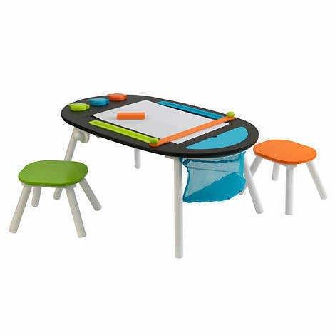 Kidkraft Deluxe Chalkboard Art Table With Stools 3 Years