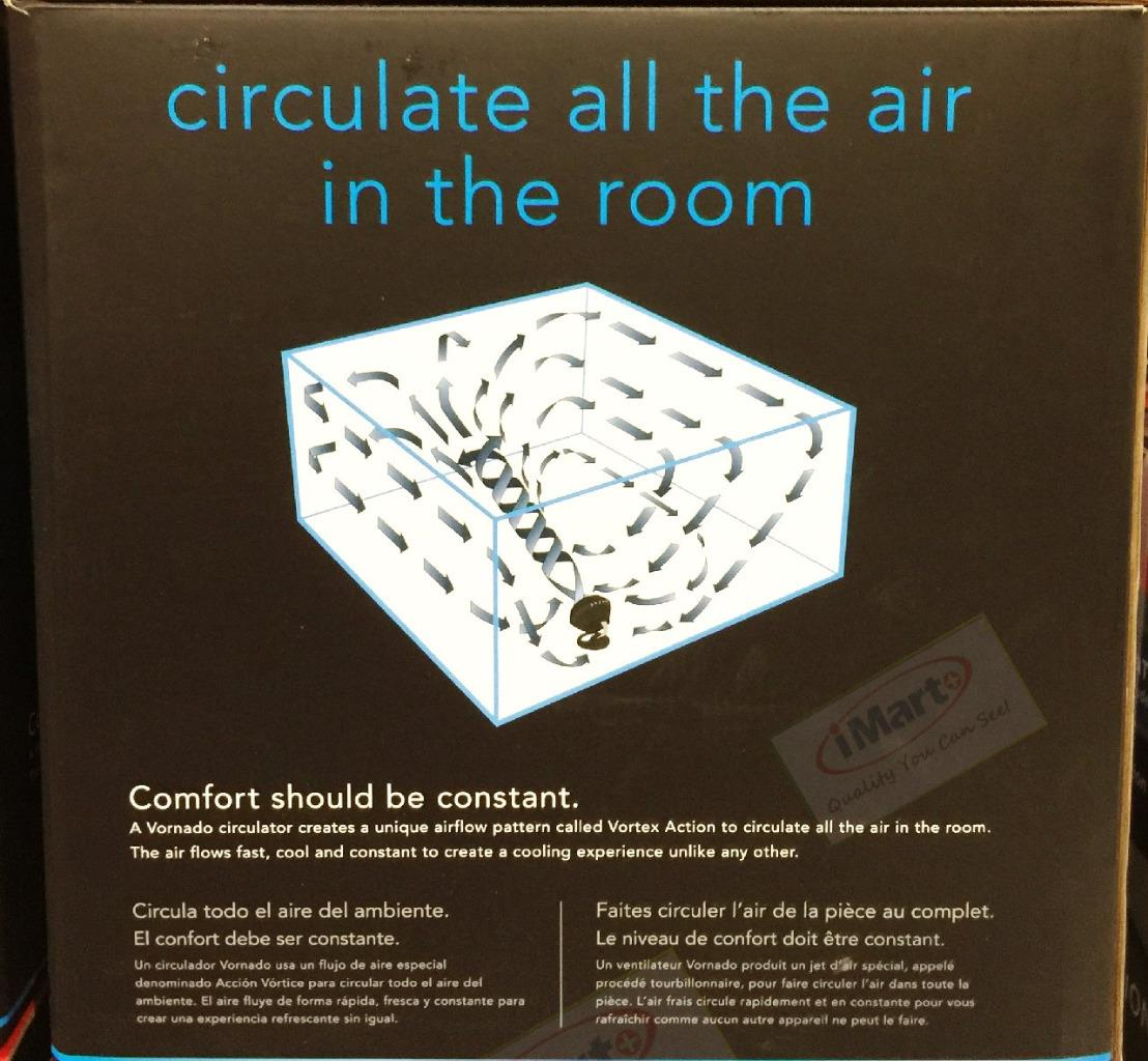 Room To Room Air Circulator : New vornado whole room air circulator black floor fan