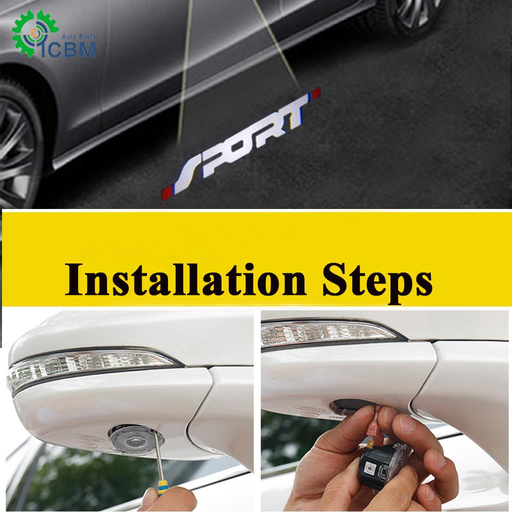 Ghost Shadow Led Side Rear View Mirror Puddle Lights For