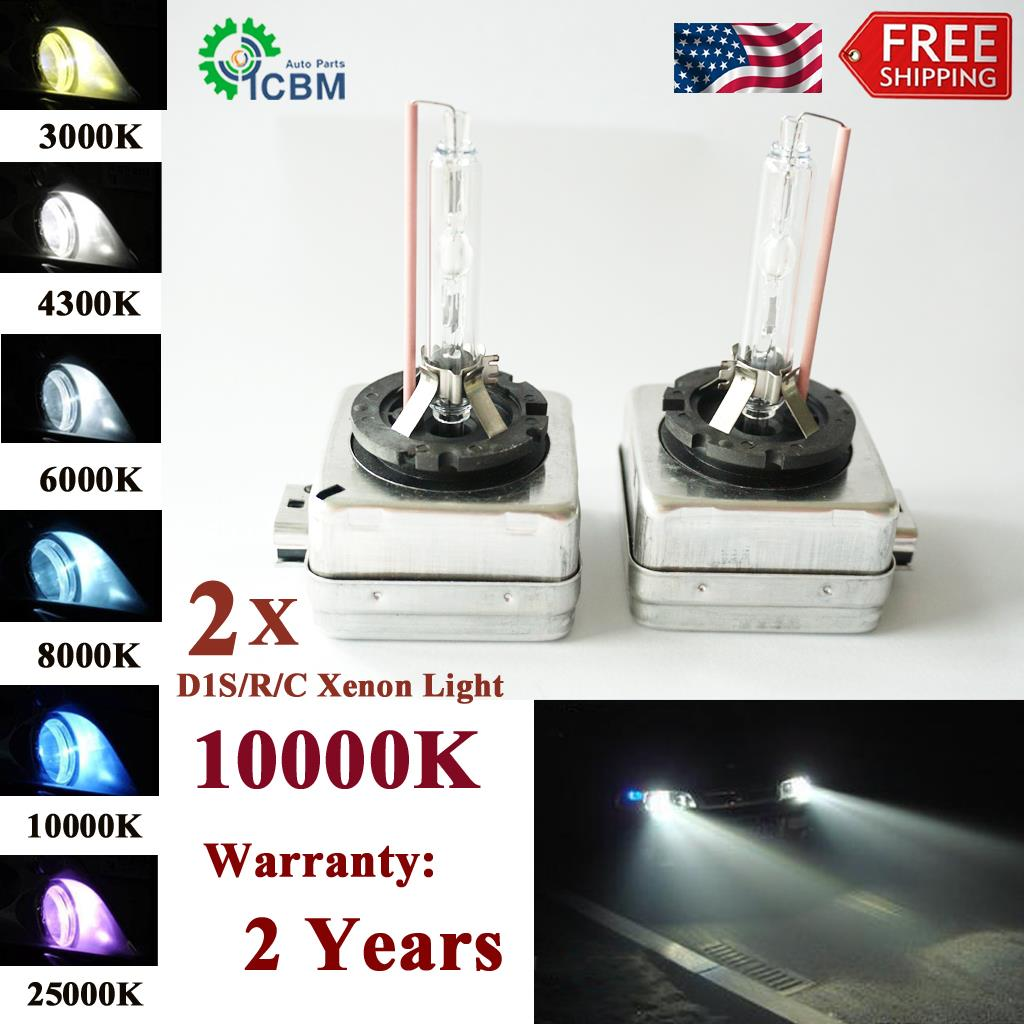 2 x D1S Genuine XENON Car Bulbs HID 35W 6000K White OEM Direct Replacement