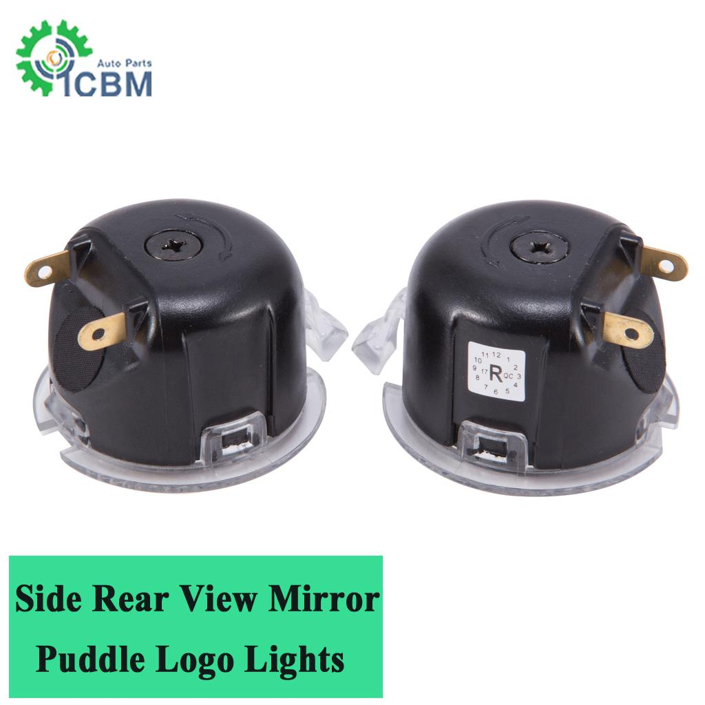 Leds Side Rear View Mirror Puddle Light Sho Logo Fit For
