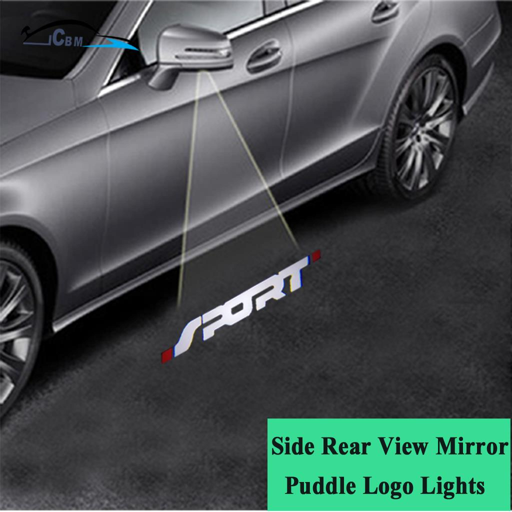 Ghost Shadow Side Rear View Mirror Puddle Sport Logo Light