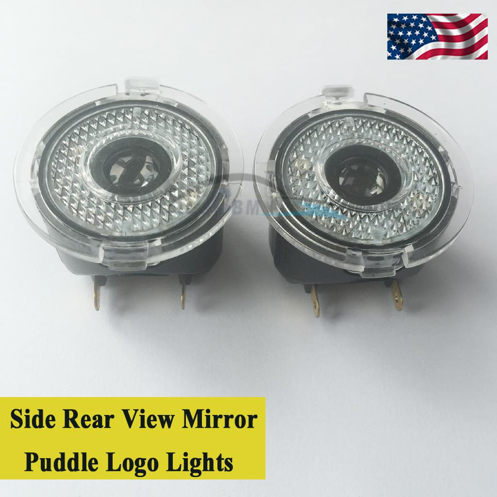2pcs Led Side Rear View Mirror Puddle Logo Light For