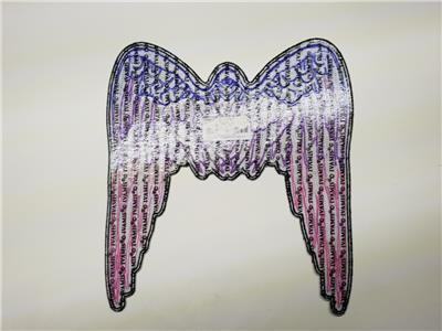 LARGE PURPLE PINK ANGEL WINGS Biker back Patch Sew Iron on Vest Back ol lady