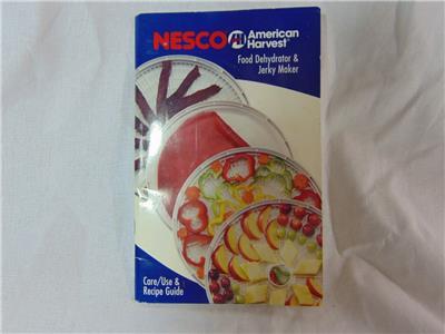 Nesco food dehydrator manuals [all models].