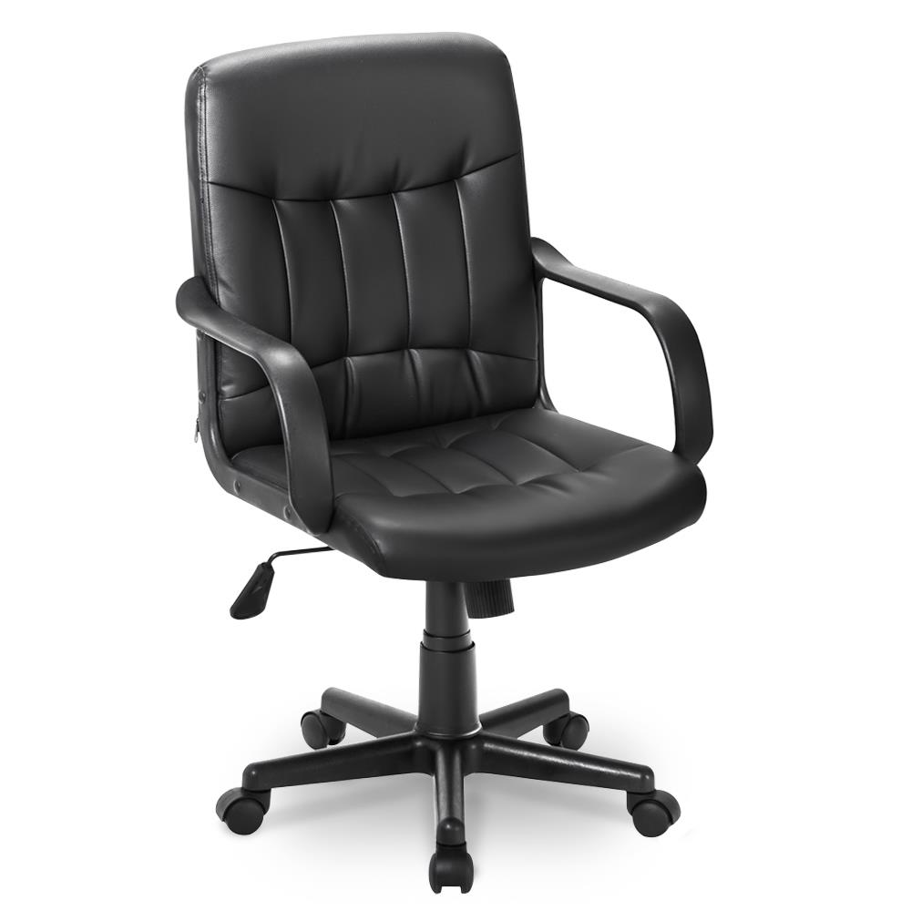 Small Leather Task Office Chair Computer Desk Swivel