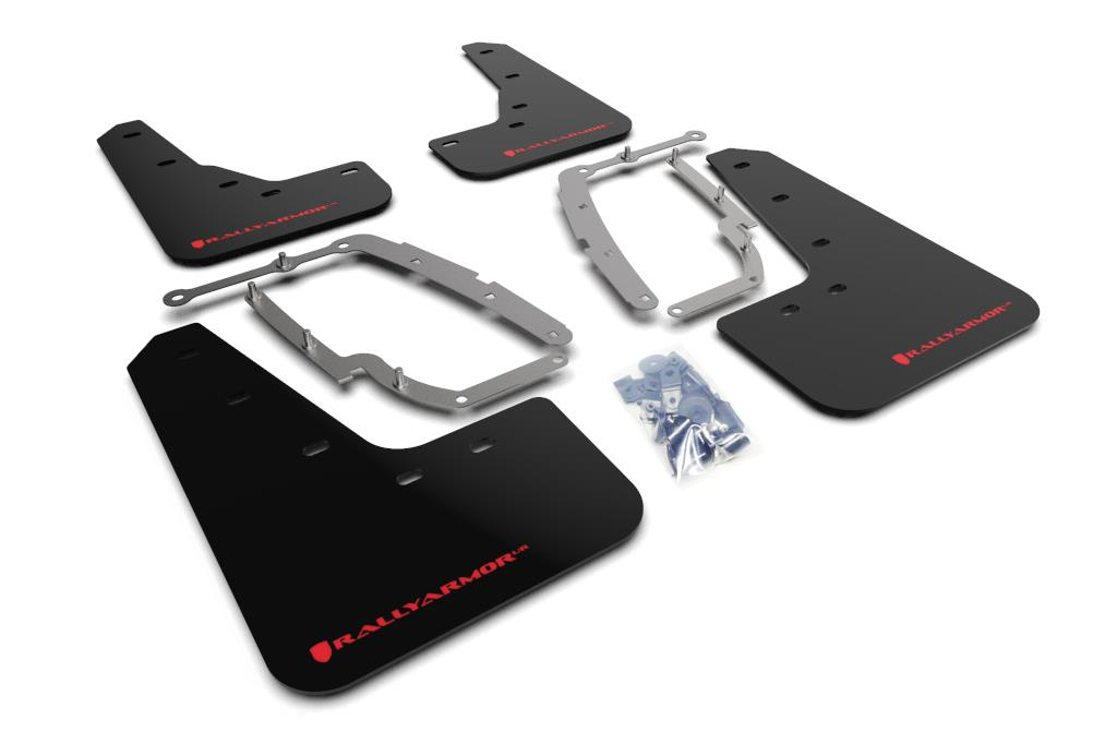 Rally Armor UR Mud Flaps Black w// Red Logo for 17 Civic Type R  MF47-UR-BLK-RD