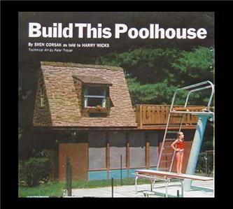 2 Story Poolhouse How To Build Plans 8 X22 W Sundeck Ebay