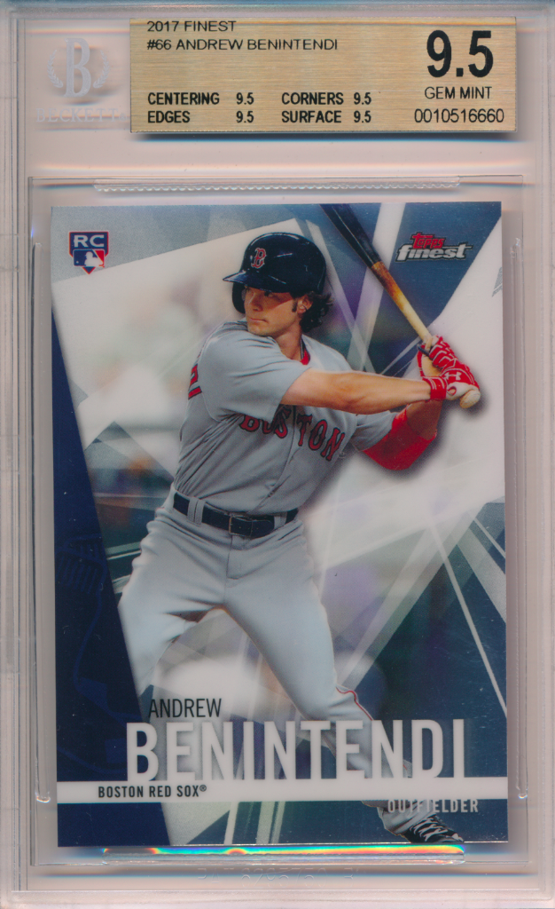 2017 Topps Finest #66 Andrew Benintendi Boston Red Sox RC Rookie Baseball Card