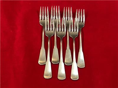 Lot of 4 Salad Forks Oneida Stainless LORILEI