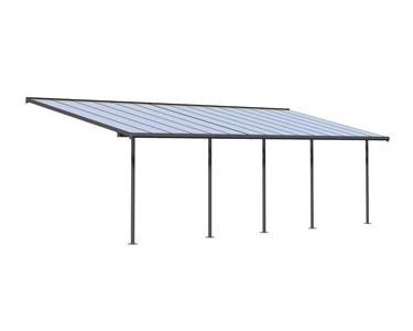 New Palram Quot Sierra Quot All Year Round Patio Cover In Grey 7