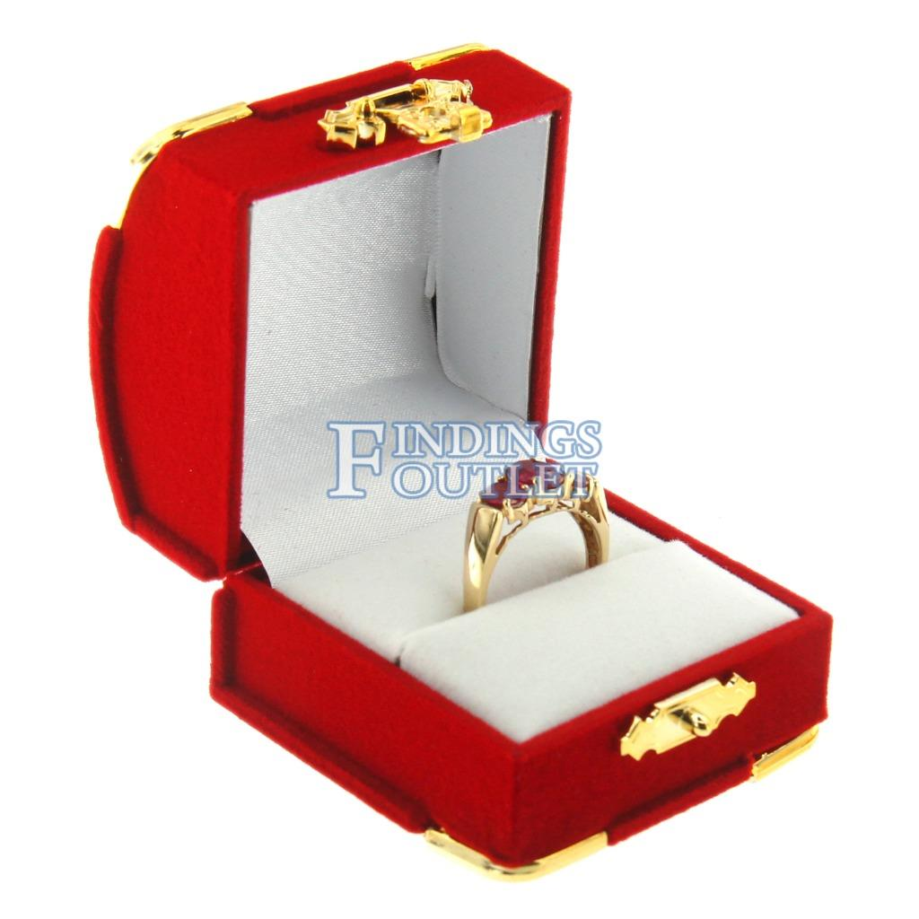 Details About Red Velvet Engagement Ring Box Display Jewelry Gift Treasure Chest Velour: Red Wedding Ring Box At Reisefeber.org