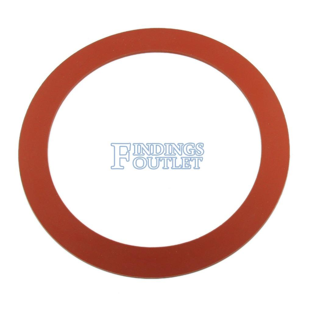 3 Diameter Red Silicone Rubber Perforated Vacuum Casting Gasket