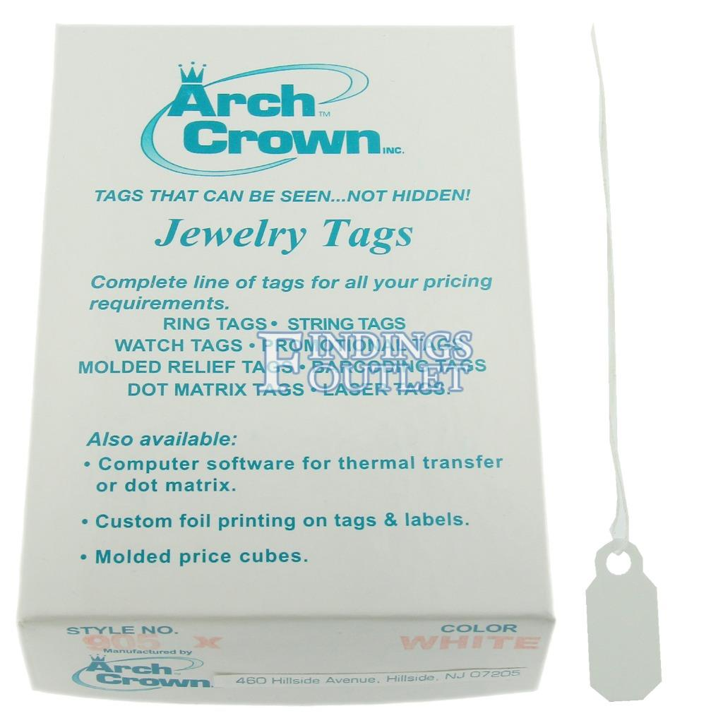 Arch Crown Merchandise Jewelry Price Tag Gold Square String Style 100 Tags