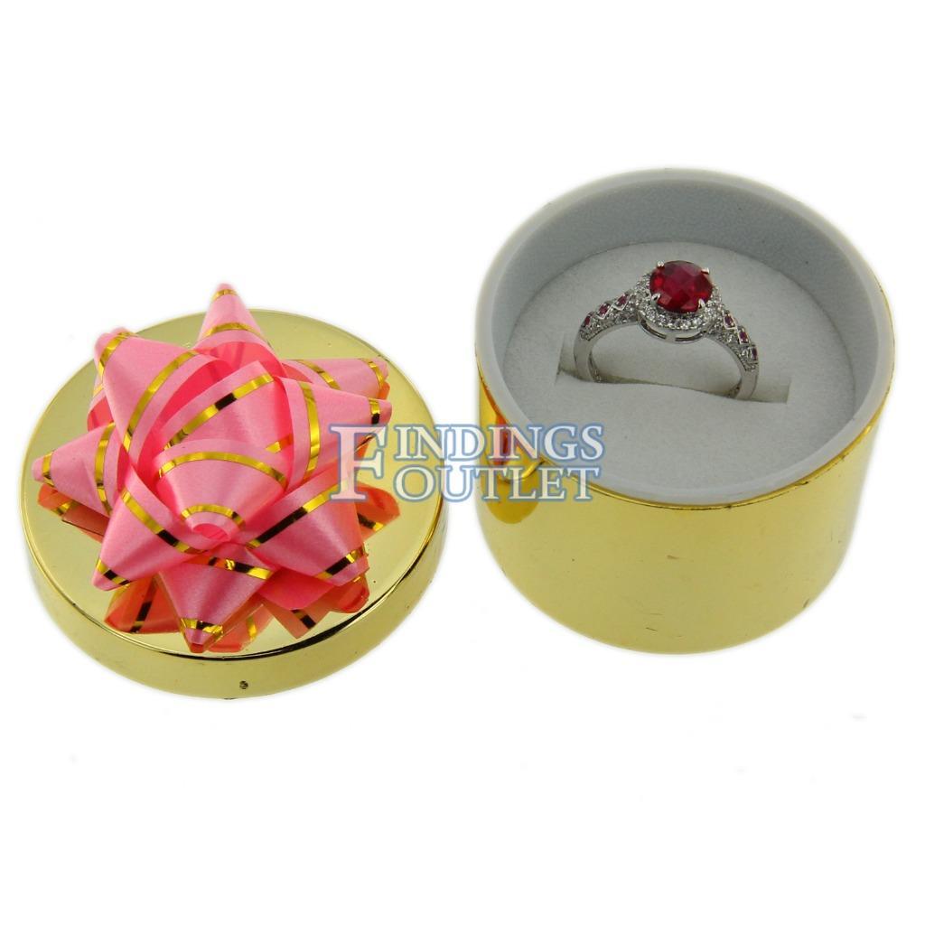 Shiny Metallic Mini Present Ring Boxes Assorted Jewelry Display Gift Box 4 Dozen