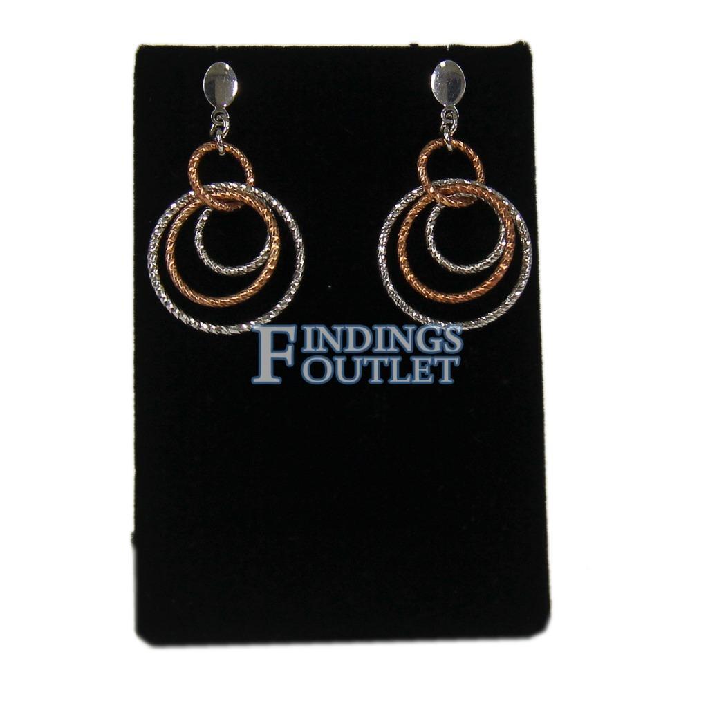 Single Earrings 248-2 Black Velvet Fan-Shaped Earring Display Stand fnt