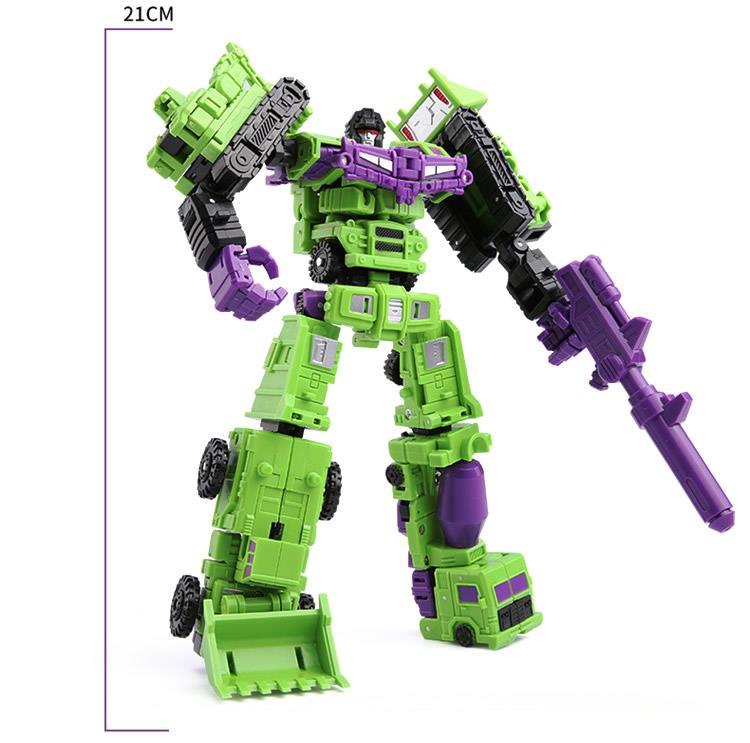 """Kids Gift Deformabl Engineering Truck Robot Combiner Devastator Action Figure 8"""""""