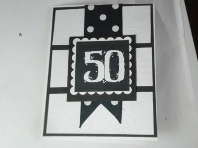 Handmade 50th birthday card using spellbinders stampin up ek handmade 50th birthday card using spellbinders stampin up ek successcuttlebug bookmarktalkfo Gallery