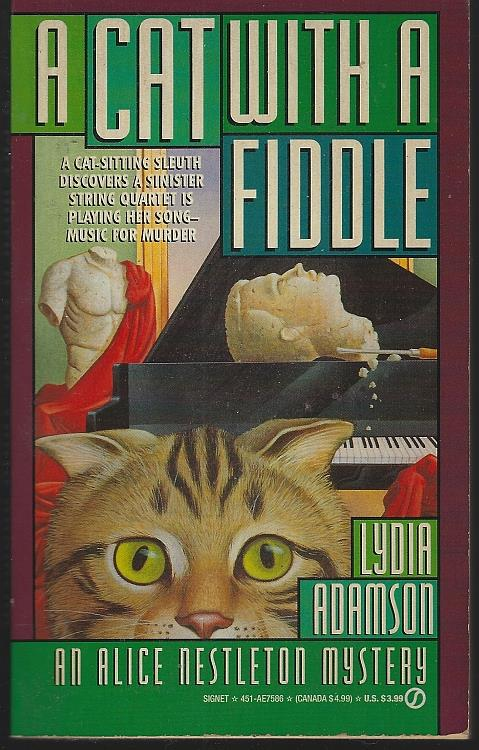CAT WITH A FIDDLE, Adamson, Lydia