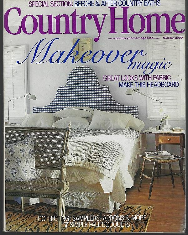 COUNTRY HOME MAGAZINE OCTOBER 2000, Country Home