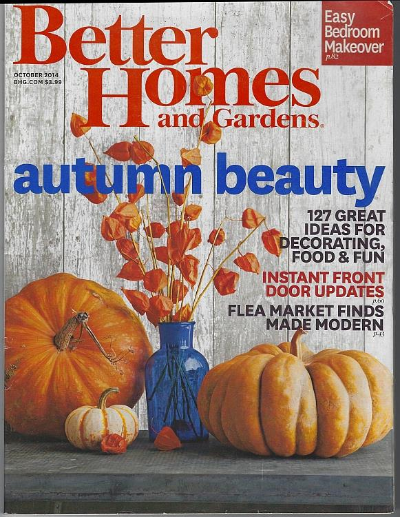BETTER HOMES AND GARDENS MAGAZINE OCTOBER 2014, Better Homes and Gardens