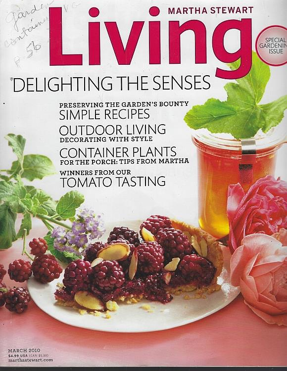 Image for MARTHA STEWART LIVING MAGAZINE MARCH 2010