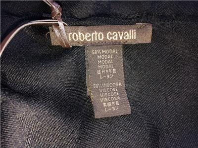 """Roberto Cavalli Scarf Wrap Pashmina Black 32/"""" x 80/"""""""