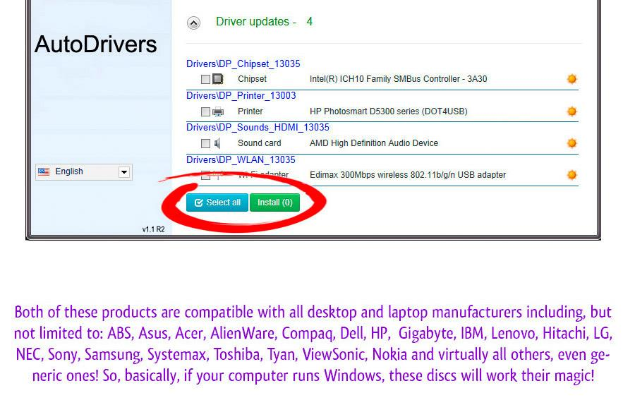 2018 Repair Restore Computer Drivers 2 Disks Windows 7 8 XP