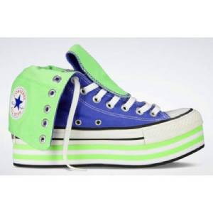Converse Periwinkle Blue Sherbet Green BAJA Platform XHI 13-Eye Shoes Wms  NEW 76fd4c589